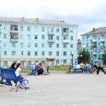 На Преображенской площади поставили скамейки