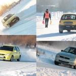Полсотни автомобилей боролись за победу на льду серовского пруда (ФОТО+ВИДЕО)
