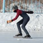 Ульяна выступила за родной город и воодушевила серовских конькобежцев