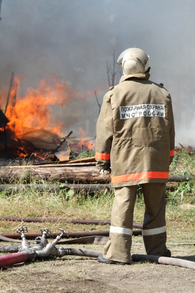 Пожар в 2 квадратных метра погубил бабушку и внука