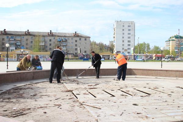 Серовский фонтан готовят к пуску