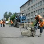 Дорожники ремонтируют дорогу. Фото автора