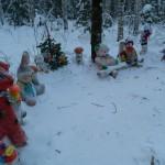Серовские пенсионеры празднуют Новый Год в зимней сказке
