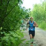 "Антон Головин бежит марафон. Фото читателя газеты ""Глобус""."