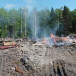 В Серове произошло возгорание на полигоне твердых бытовых отходов
