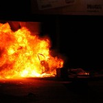 Ночью в Серове горел УАЗ