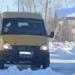 """ГАЗелька мапшрута 3А - на рейсе. Снимок сделан 29 января. Фото: Антон Муханов, """"Глобус""""."""