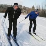 Давние соперники на лыжне вновь померились силами.