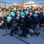 """Команда """"Кристалл"""" победители Первенство Северного управленческого округа по хоккею с шайбой среди любительских команд."""