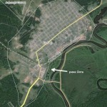 """Речка Олта совсем маленькая, интернет-поисковики о ней """"знают"""" только благодаря произошедшему. Фото: скриншот с сайта wikimapia.org."""