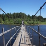 Мост который соединяет Петрово и Табор в аварийном состоянии уже давно. Ходить по нему опасно говорят местные жители