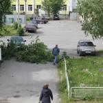 Через минуту после падения. Фото: Константин Бобылев, газета ''Глобус''.