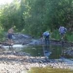Волонтеры чистят трассу