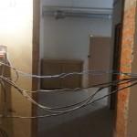 На первом этаже детского сада работы с проводкой
