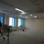 На верхних этажах работы по электричеству уже завершены