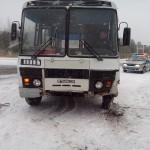 ПАЗ - после столкновения с ВАЗом.