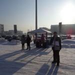 Несмотря на морозный день, участие в сходке БПАН приняло несколько десятков участников.