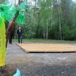 """Полы для палаток уже установлены. Фото: Константин Бобылев, """"Глобус""""."""