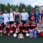 Серовские полицейские сыграли в футбол с воспитанниками детского дома-школы