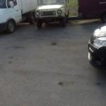 """Фото угнанного автомобиля. Жители, активно помогали в поисках пропавшего транспортного средства. Это фото было прислано """"Глобусу"""" в социальной сети """"Вконтакте"""". Фото: Эльдар Гарифулин."""