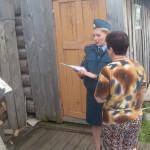 Отдел надзорной деятельности проводит профилактические беседы с жителями Серовского городского округа. Фото: предоставлено отделом надзорной деятельности.