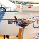 Модель самолёта L-410. Стенд УГМК.