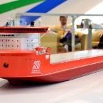 Макет контейнеровоза. Китай.