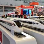 Скоростные поезда китайских железных дорог.