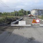 Вид  будущей дороги со стороны ул. Нансена.