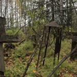 Наличие захоронения в том или ином месте можно опознать только по присутствию надгробия, так как многие холмики уже сравнялись с землей. Сгнившие деревянные кресты лежат на земле либо находятся на грани падения. Фото: Константин Бобылев, «Глобус»