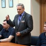 Выступление председателя городского Совета ветеранов Владимира Макрушина.