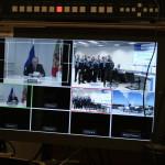 Изображение монитора оператора эфира во время телемоста