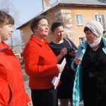 Лариса Фечина - в поселке Энергетиков.