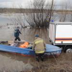МЧС сообщает, что уровень воды в Сосьве на территории Серовского городского округа снизился. Фото: 56 пожарная часть.