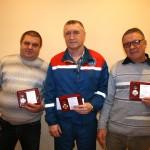 Награжденные (слева направо) Ю.Шоткевич, В.Тимофеев, А.Шкретов