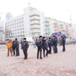 Полиция на площади Труда в Екатеринбурге.