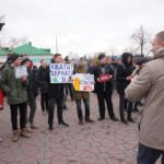В акции приняло участие большое количество молодежи.