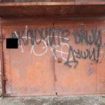 """Надпись достаточно благородного и филосовского содержания, но -- рядом все та же запрещенная руна. Фото: Константин Бобылев, """"Глобус""""."""