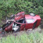 В ДТП на Серовском тракте погибла пассажирка Mitsubishi Lancer. Все фото: пресс-служба ГИБДД.