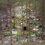 """Склон буквально усыпан мусором. Но мусор старый. И видно, что высыпали его лишь с одной стороны. Если обойти карьер, то таких свалок уже нет. Фото: Константин Бобылев, """"Глобус""""."""