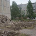 Строительный мусор поселок Энергетиков улица попова 13а. Фото: Мария Чекарова.