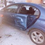"""Повреждение автомобиля """"Хонда"""". Фото: ГИБДД Серова."""