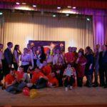 Участники студенческого матча КВН и члены жюри. Фото: Дмитрий Скрябин.