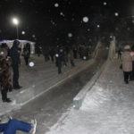 """Самоя большая горка в зимнем городке. Фото: Мария Чекарова, """"Глобус""""."""