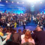 """В Калининграде журналисты ждут появления Владимира Путина. Фото: Константин Бобылев, """"Глобус""""."""