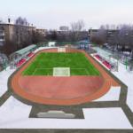 Проект благоустройства территории с устройством спортивной площадки с южной стороны жилого дома по ул.Ленина, 152 (КН 66610210007111).