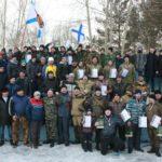 Участники соревнований среди ветеранов боевых действий и воспитанников военно-патриотических клубов в Серове.