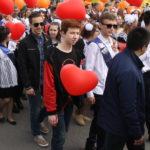 """На шествие было большое разнообразие шариков разных цветов и форм. Фото: Мария Чекарова, """"Глобус""""."""