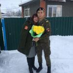Марина и Артур, который уже успел отслужить в армии. Фото: семейный архив Заляшевых.